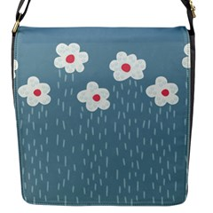 Cloudy Sky With Rain And Flowers Flap Messenger Bag (S)