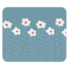 Cloudy Sky With Rain And Flowers Double Sided Flano Blanket (small)