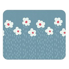 Cloudy Sky With Rain And Flowers Double Sided Flano Blanket (Large)