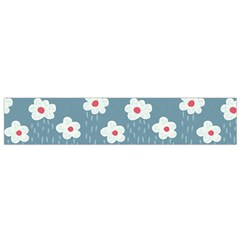 Cloudy Sky With Rain And Flowers Flano Scarf (Small)