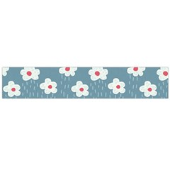 Cloudy Sky With Rain And Flowers Flano Scarf (large)