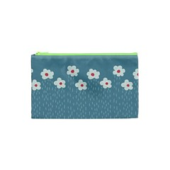 Cloudy Sky With Rain And Flowers Cosmetic Bag (xs)
