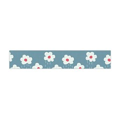 Cloudy Sky With Rain And Flowers Flano Scarf (mini)