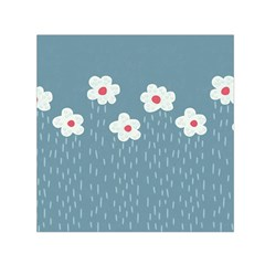 Cloudy Sky With Rain And Flowers Small Satin Scarf (square)