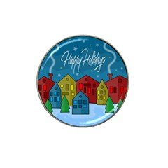Xmas landscape Hat Clip Ball Marker (4 pack)