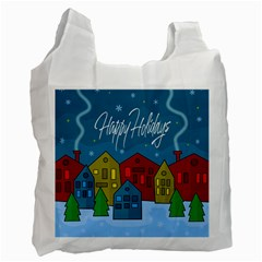Xmas landscape Recycle Bag (One Side)