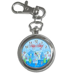 Xmas landscape - Happy Holidays Key Chain Watches