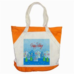 Xmas landscape - Happy Holidays Accent Tote Bag