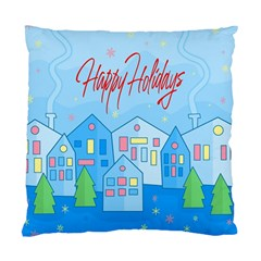 Xmas landscape - Happy Holidays Standard Cushion Case (One Side)