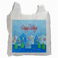 Xmas landscape - Happy Holidays Recycle Bag (Two Side)