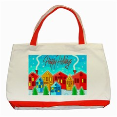Christmas magical landscape  Classic Tote Bag (Red)