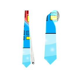 Christmas magical landscape  Neckties (Two Side)