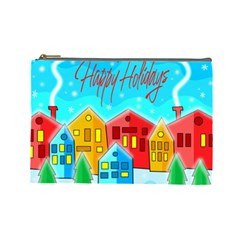 Christmas magical landscape  Cosmetic Bag (Large)
