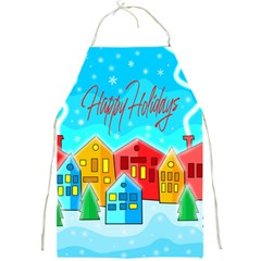 Christmas magical landscape  Full Print Aprons
