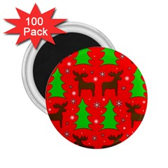 Reindeer and Xmas trees pattern 2.25  Magnets (100 pack)