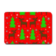 Reindeer and Xmas trees pattern Small Doormat