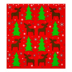 Reindeer and Xmas trees pattern Shower Curtain 66  x 72  (Large)
