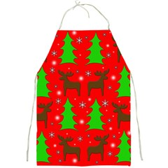 Reindeer and Xmas trees pattern Full Print Aprons