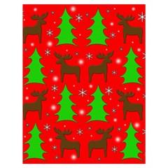Reindeer and Xmas trees pattern Drawstring Bag (Large)