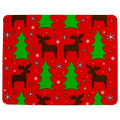 Reindeer and Xmas trees pattern Jigsaw Puzzle Photo Stand (Rectangular)