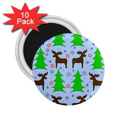 Reindeer and Xmas trees  2.25  Magnets (10 pack)