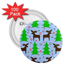 Reindeer and Xmas trees  2.25  Buttons (100 pack)