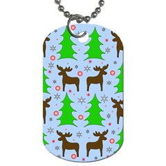 Reindeer and Xmas trees  Dog Tag (Two Sides)