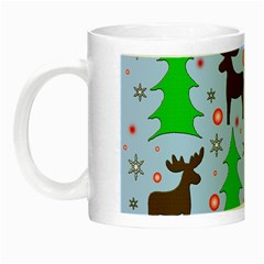 Reindeer and Xmas trees  Night Luminous Mugs