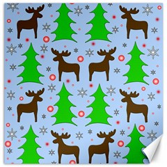 Reindeer and Xmas trees  Canvas 20  x 20