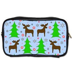 Reindeer and Xmas trees  Toiletries Bags 2-Side