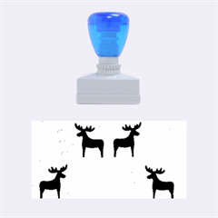Reindeer And Xmas Trees  Rubber Stamps (medium)