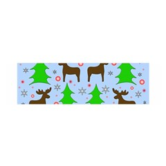 Reindeer and Xmas trees  Satin Scarf (Oblong)