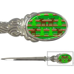 Christmas trees and reindeer pattern Letter Openers
