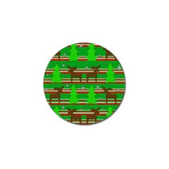 Christmas trees and reindeer pattern Golf Ball Marker (4 pack)