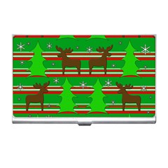 Christmas trees and reindeer pattern Business Card Holders