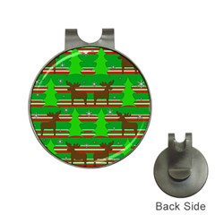 Christmas trees and reindeer pattern Hat Clips with Golf Markers