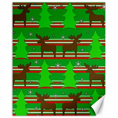 Christmas trees and reindeer pattern Canvas 16  x 20