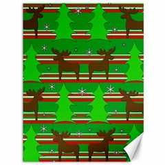 Christmas trees and reindeer pattern Canvas 36  x 48