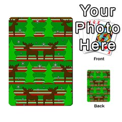 Christmas trees and reindeer pattern Multi-purpose Cards (Rectangle)