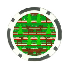 Christmas trees and reindeer pattern Poker Chip Card Guards (10 pack)