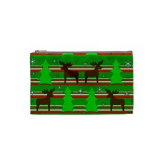 Christmas trees and reindeer pattern Cosmetic Bag (Small)