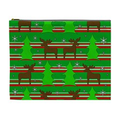 Christmas trees and reindeer pattern Cosmetic Bag (XL)