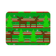 Christmas Trees And Reindeer Pattern Double Sided Flano Blanket (mini)