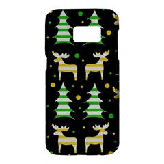 Decorative Xmas reindeer pattern Samsung Galaxy S7 Hardshell Case