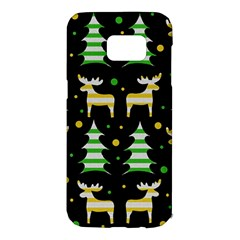 Decorative Xmas reindeer pattern Samsung Galaxy S7 Edge Hardshell Case