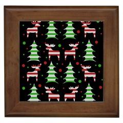 Reindeer decorative pattern Framed Tiles