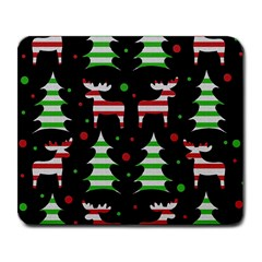 Reindeer decorative pattern Large Mousepads