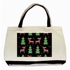 Reindeer decorative pattern Basic Tote Bag