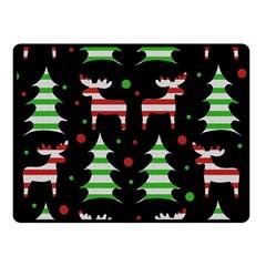 Reindeer decorative pattern Fleece Blanket (Small)
