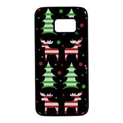 Reindeer decorative pattern Samsung Galaxy S7 Black Seamless Case